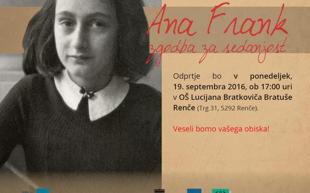 "Razstava ""Ana Frank – zgodba za sedanjost"""