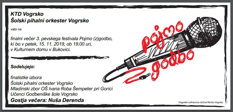 POJMO ZGODBO – KTD Vogrsko in Šolski pihalni orkester Vogrsko